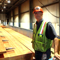Bryce Piggot, plant manager, Louisiana-Pacific Building Products, Golden, B.C.