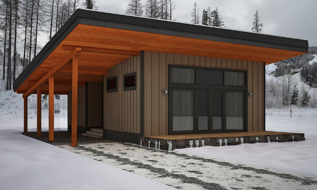 Tyee Homes' 3-D rendering of their Expedition Base Camp model.