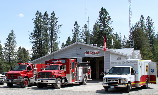 The Baynes Lake fire hall, as well as those in Jaffray and Elko, is benefiting from improved Internet service.