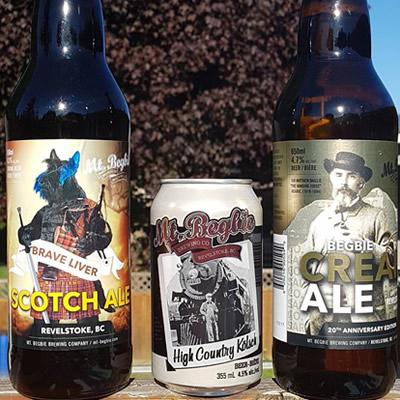 Selection of Mt. Begbie beers.