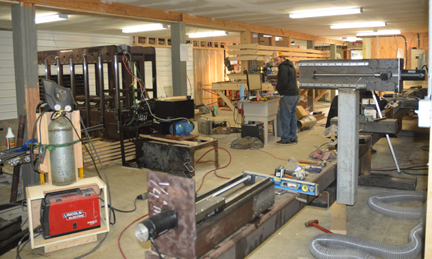 Berley's manufacturing workshop under construction