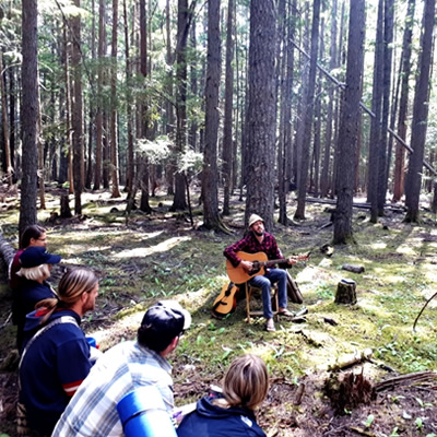 Sharpen your senses with an acoustic and musical forest walk in early morning with the Acoustic Walk, First Light tour.