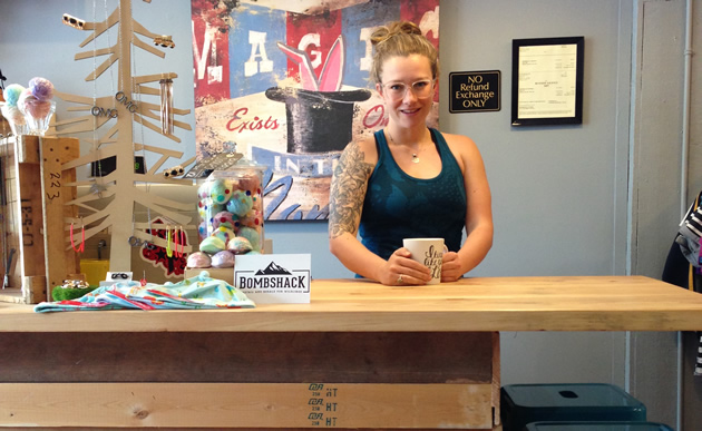 Alicia Gray is the owner-operator of Bombshack Apparel, a new-and-used children's clothing outlet in Rossland, B.C.
