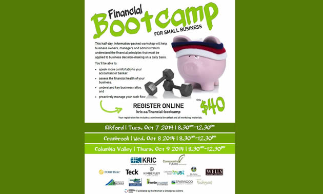 Financial Bootcamp for Small Business workshop poster
