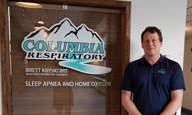 Brett Kryski opened Columbia Respiratory in Trail, B.C., in April 2017.