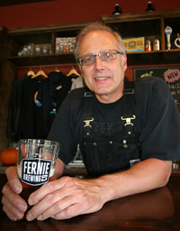 head brewmaster, Gord Demaniuk, of Fernie Brewing Company.