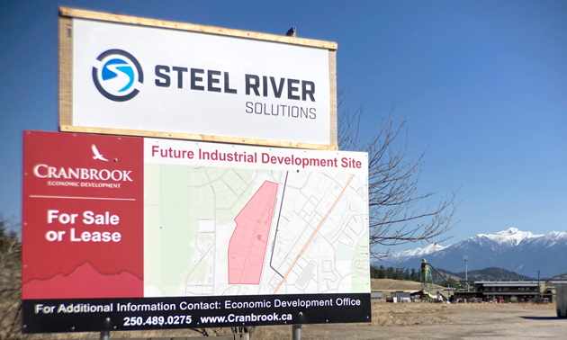 Steel River Group sign.