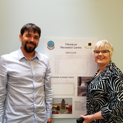 Bryan Armstrong and Heather Rennebohm are deeply involved in the planning process for the Columbia Lake Recreation Centre
