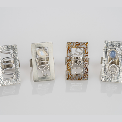 Sienna Estes Jewelry Design – Series of 5 rings.