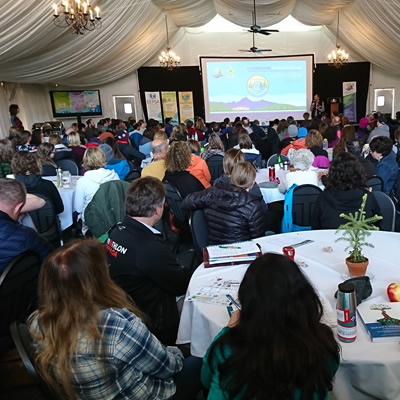 Keynotes were greeted by a packed house with 300 educators across Canada participating.