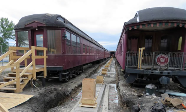 The Cranbrook History Centre is building a train shed over some of their most valuable railcars thanks to a Columbia Basin Trust grant.