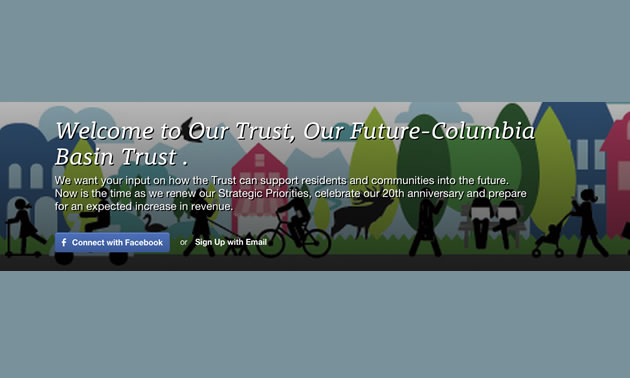 Columbia Basin Trust voting banner
