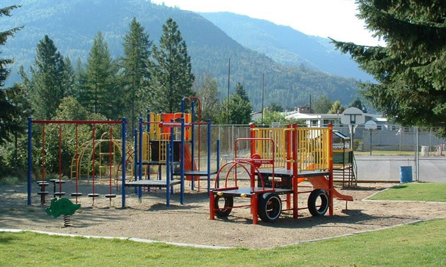 Playground in park.