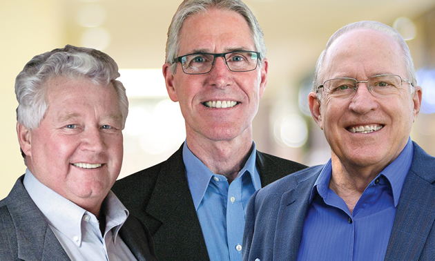 Lee Pratt, mayor of Cranbrook; Don McCormick, mayor of Kimberley and Rick Jensen, owner, New Dawn Group, founded the Cranbrook-Kimberley Development Initiative in November 2015.