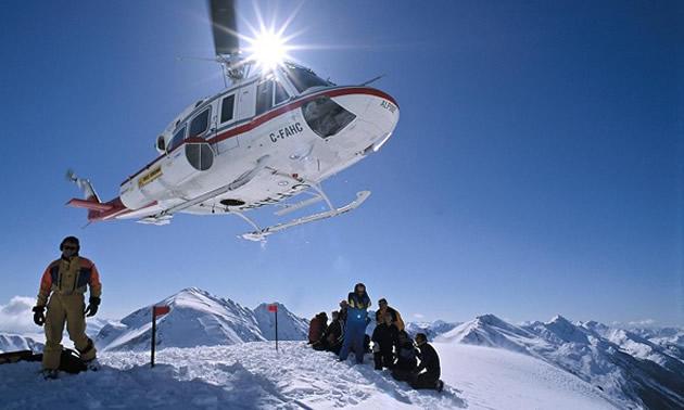 Heli-skiing operation.