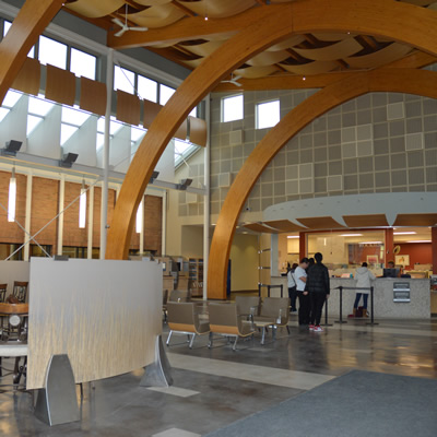The new entrance foyer at College of the Rockies