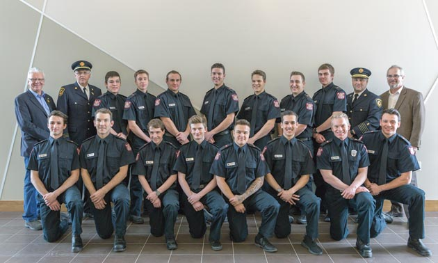 Graduates of the Fire Services course in Kimberley.