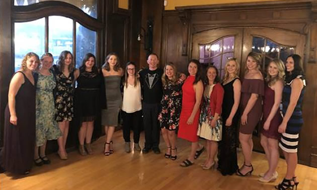 Fourteen College of the Rockies Bachelor of Science in Nursing students celebrated their upcoming graduation at the Royal Alexandra Hall, prior to taking part in the College's June 7 commencement ceremony.