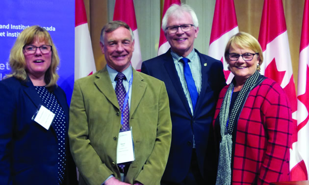 College of the Rockies Executive Director, International and Regional Development, Patricia Bowron and President David Walls joined Columbia Kootenay Member of Parliament, Wayne Stetski and College Board of Governors Chair Wilda Schab at the Colleges and Institutes Canada conference in Ottawa, May 1 and 2.