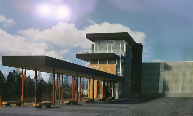 Artist's rendition of the new Trades Training Facility at COTR.
