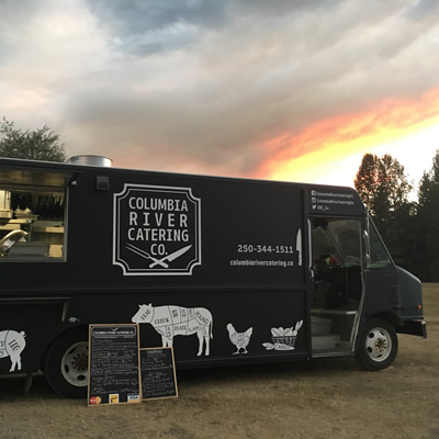 This retrofitted Canadian Linen van is home to Columbia River Catering Co.