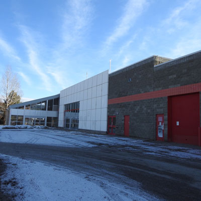 Old Canadian Tire building in Cranbrook