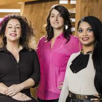 Tamara Behl, Danielle Cardozo and Marida Mohammed, three of the top eight competitors in MasterChef Canada