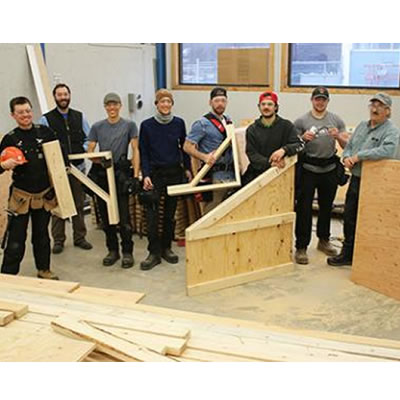 Students in Selkirk College's Carpentry Foundation Program have been busy putting together the pieces of a pair of ice rinks for the Blewett Conservation Society which will be assembled at the Morning Mountain Recreational Area just west of Nelson in December.