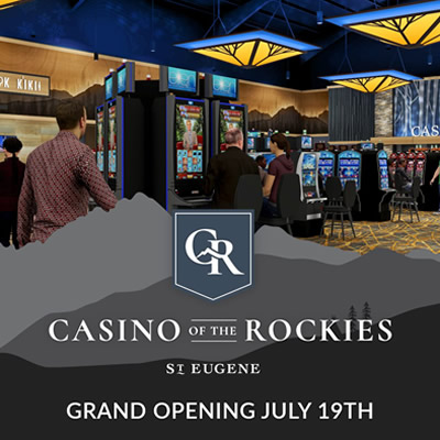 Grand opening invitation to Casino of the Rockies.