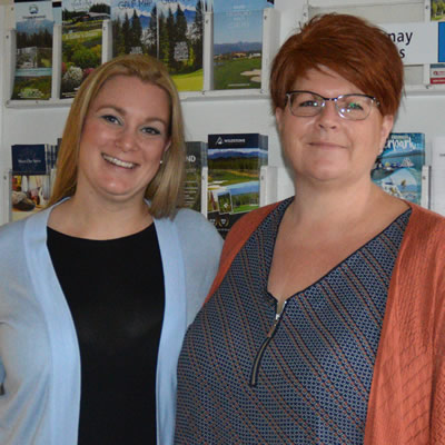 Cranbrook Chamber of Commerce staff  Michelle Doll (L), administrative assistant and Laura Kennedy, office manager