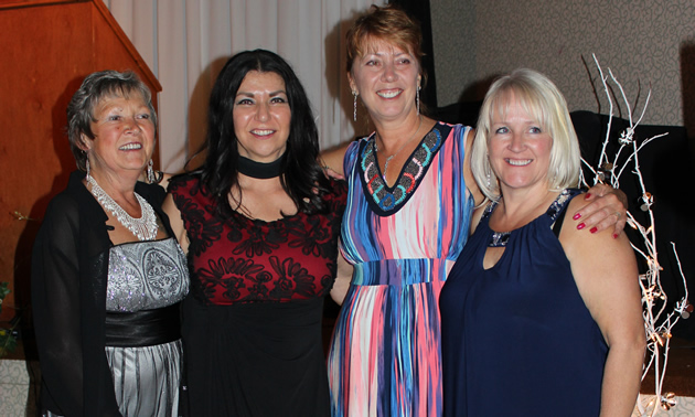 (L to R) Susan Stewart, Tammy Verigin-Burk, Jane Charest and Anna Kaytor are pillars of the Castlegar visitor centre, chamber of commerce and tourism service.
