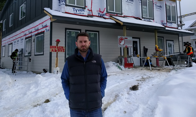Chris Brien and his partners at Pinnacle Professional Accounting in Castlegar, B.C., are building a new office for the business, with residences above it.