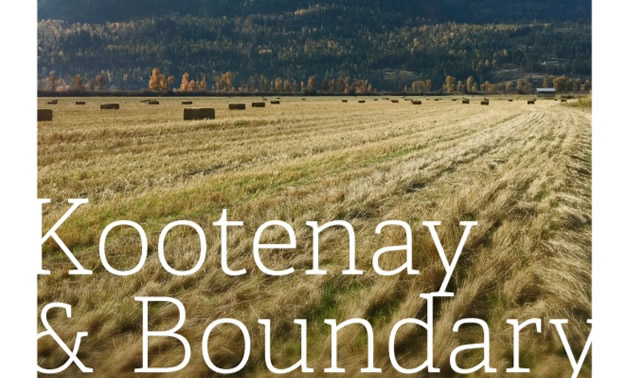 The cover of the Kootenay & Boundary Regional Adaptation Strategy report, showing a wheat field.