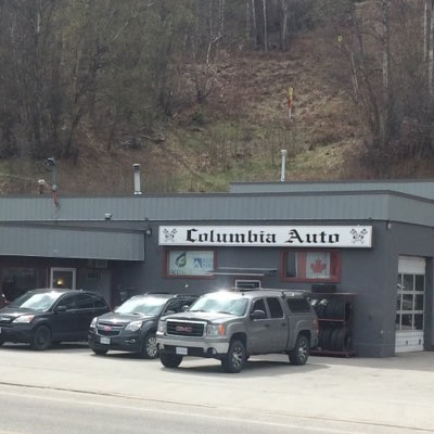 Front of Columbia Auto & Radiator Service in Castlegar.