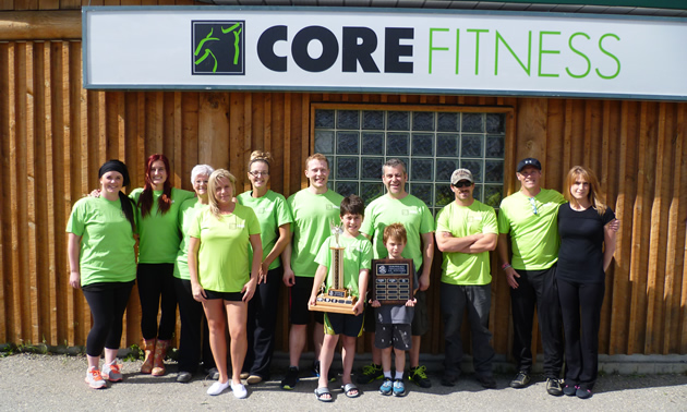 People working out at Core Fitness, a gym in Cranbrook, BC
