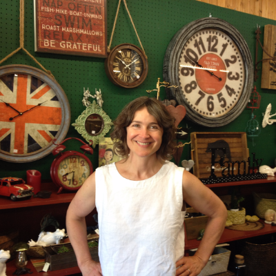 Sara Stuart in the Country Roads General Store in Fruitvale, B.C.
