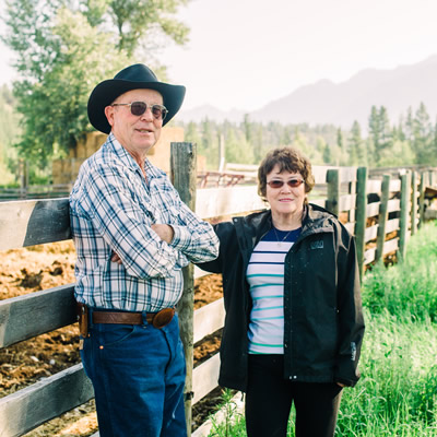 Karen and Doug Barraclough, owners of the B-E Ranch in Skookumchuck.