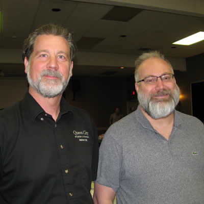 Craig Luke is the operations manager and Alain Chiasson (R) is a new co-owner of Queen City Shuttle in Nelson, B.C.