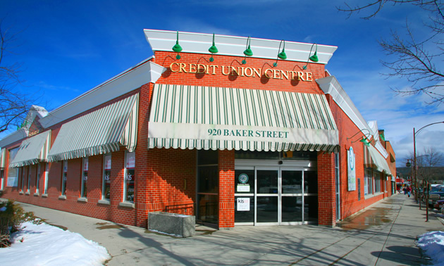 The East Kootenay Credit Union, Cranbrook location.
