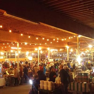 Indoor view of the Cranbrook Winter Market