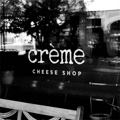 Window of the Creme Cheese Shop.