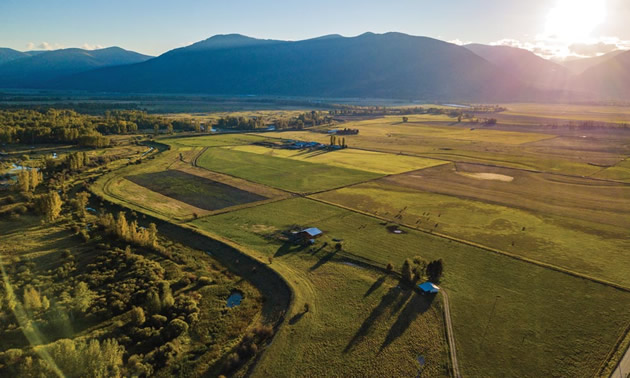 Aerial view of the Creston Valley