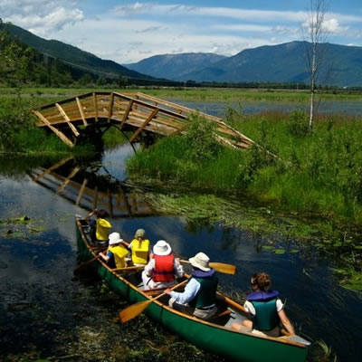 Programming at the Creston Valley Wildlife Management Area includes environmental education on wetland ecosystems and wildlife.
