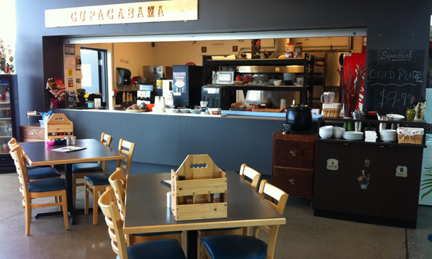 Photo of new restaurant at airport