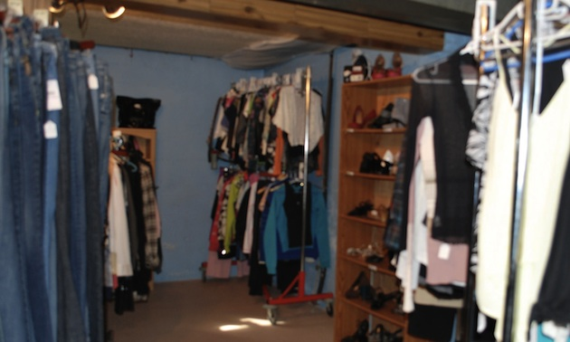 A photo of the inside of David and Abigail Upscale Retail store in Cranbrook, B.C.