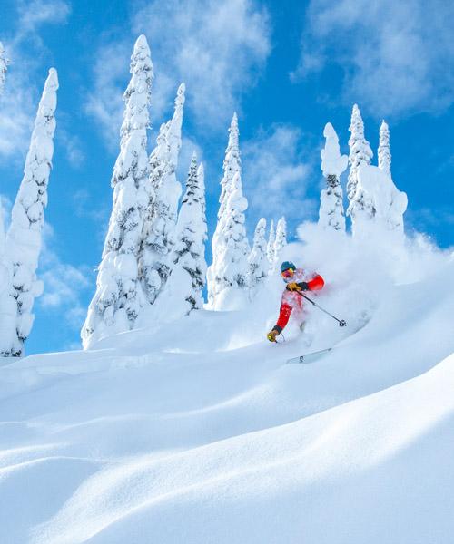 Cam Shute skiing.