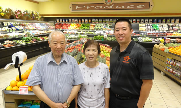 Liberty Foods in Fruitvale, B.C., is owned by Dick and Susan Dar and managed by their son, Derrick (r).