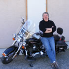 In his time away from his business, Dave McGuire loves to ride his motorcycle.