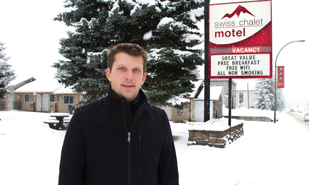 Eric Scarcella owns and operates Swiss Chalet Motel in Revelstoke, B.C.