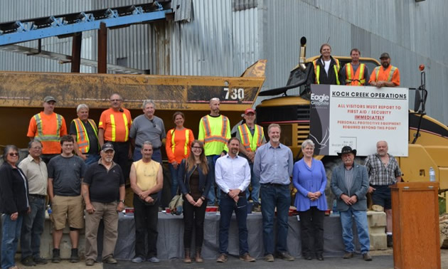 Group shot of Eagle Graphite employees.